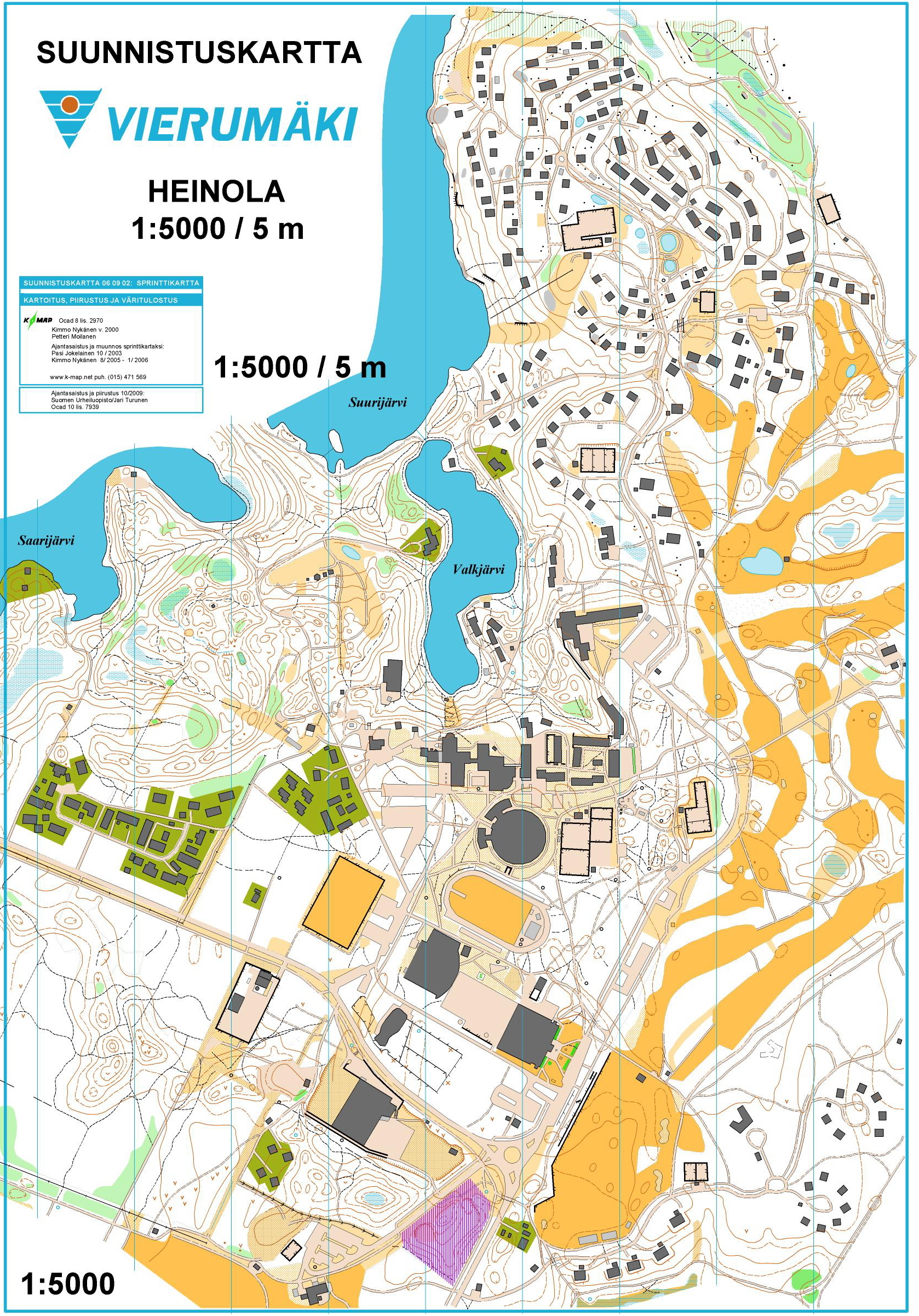Korttelikuppi Vierumki February 10th 2010 Orienteering Map
